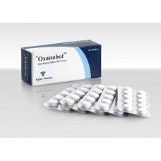 Oxanabol (Оксандролон, Анавар) Alpha Pharma 50 таблеток (1таб 10 мг)
